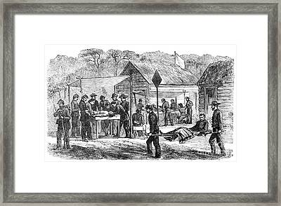 Battlefield Medicine, American Civil Framed Print by Science Source