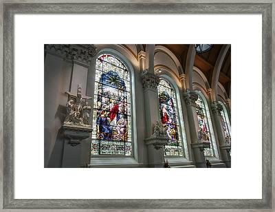 Bavarian Cathedral Glass - Spokane Washington Framed Print by Daniel Hagerman