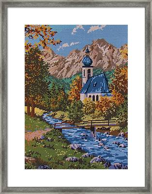 Bavarian Country Framed Print by M and L Creations Craft Boutique
