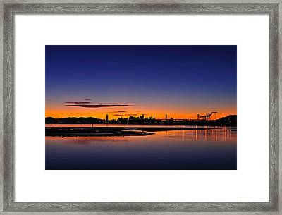 Bay Area Sunset Framed Print by Richard Leon