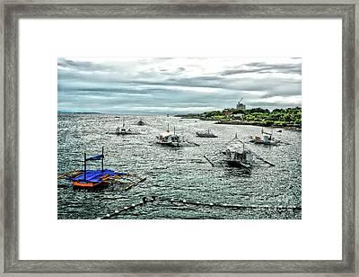 Bay Of Mactan Island Philippines Framed Print by Anita Antonia Nowack