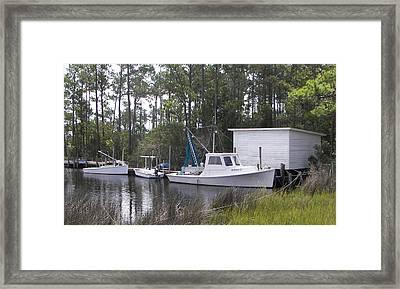 Bay Shrimper Framed Print by Kevin Brant