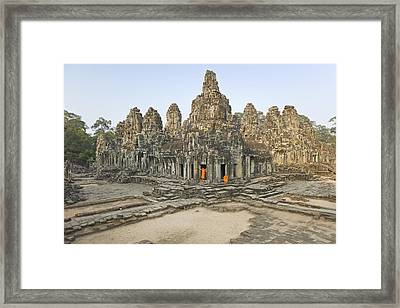 Bayon Temple Framed Print by Martin Puddy