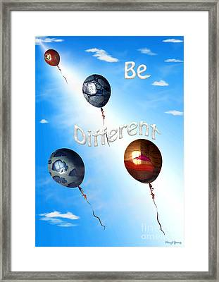 Be Different Framed Print by Cheryl Young