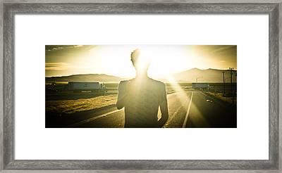 Be Here Now Framed Print by Steven Baker