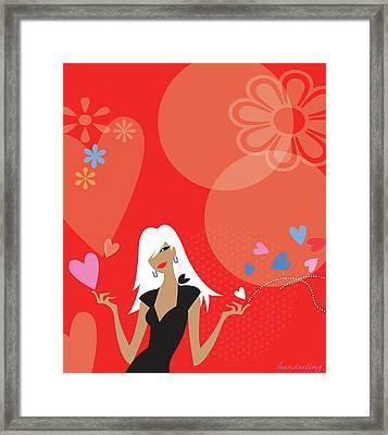 Be Mine Framed Print by Lisa Henderling