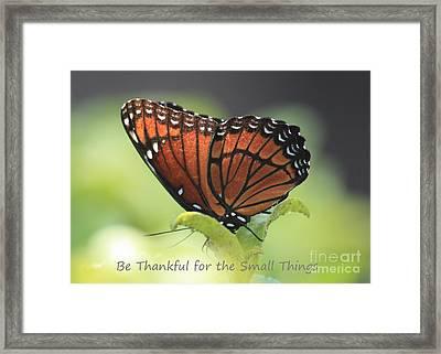 Be Thankful Framed Print by Carol Groenen