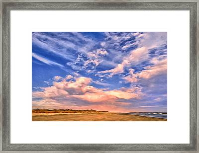 Beach At Sullivan's Island Framed Print by Dominic Piperata