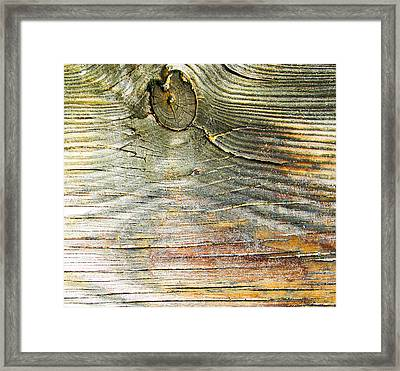 Beach Boardwalk Abstract Framed Print by Christy Usilton