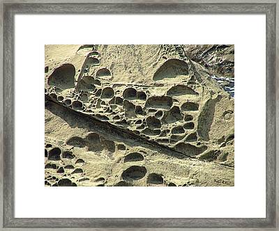 Beach Craters Framed Print by Wendy McKennon