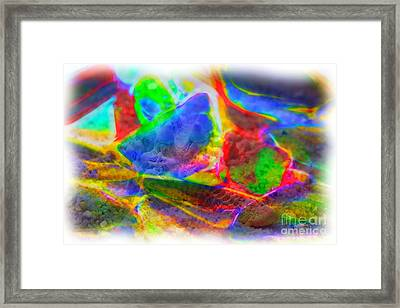 Beach Glass Abstract Framed Print by Judi Bagwell