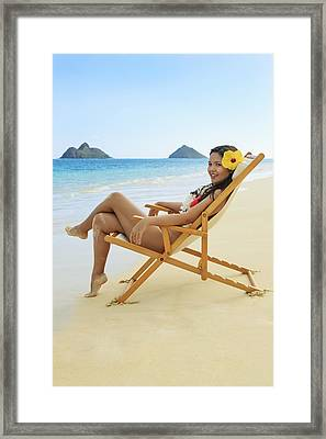 Beach Lounger Framed Print by Tomas del Amo