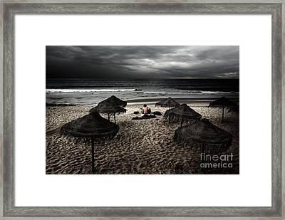 Beach Minstrel Framed Print by Carlos Caetano