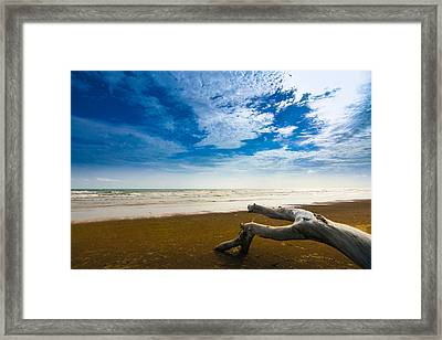 Beach Framed Print by Nawarat Namphon