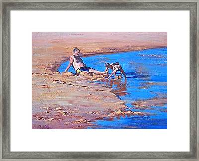 Beach Play Framed Print by Graham Gercken