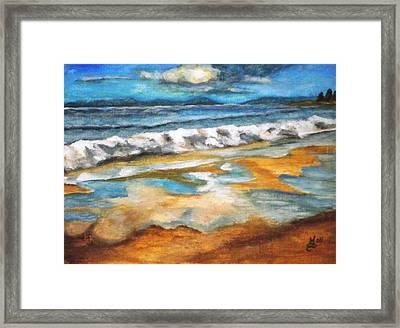 Beach Reflection Framed Print by Kim Selig