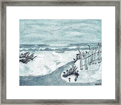 Beach Seashore Abstract Framed Print by Marsha Heiken
