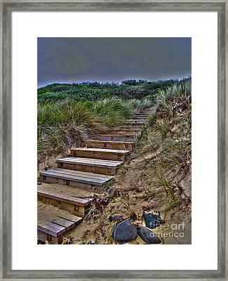 Beach Stairs Framed Print by Joanne Kocwin