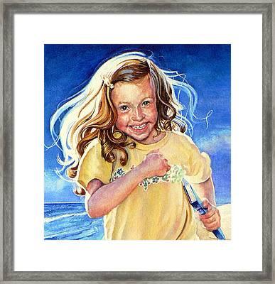 Beach Treasure Framed Print by Hanne Lore Koehler