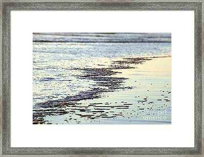 Beach Water Framed Print by Henrik Lehnerer