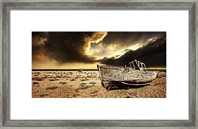 Beached In Color Framed Print by Meirion Matthias