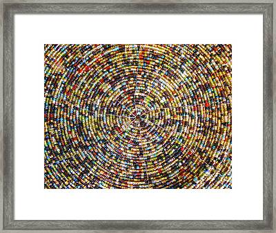 Beaded Indian Work Framed Print by Sumit Mehndiratta