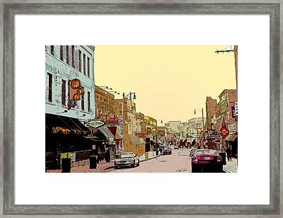 Beale Street Framed Print by Barry Jones