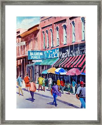 Beale Street Blues Hall Framed Print by Ron Stephens