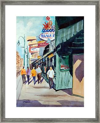 Beale Street Visual Overload Framed Print by Ron Stephens