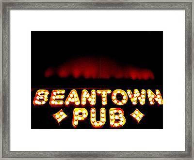 Beantown Pub Framed Print by Sheryl Burns