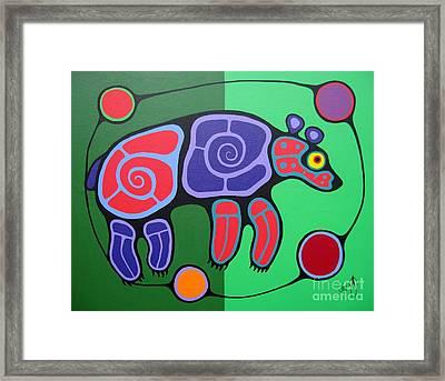 Bear Framed Print by Jim Oskineegish