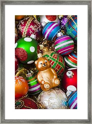 Bear Ornament Framed Print by Garry Gay