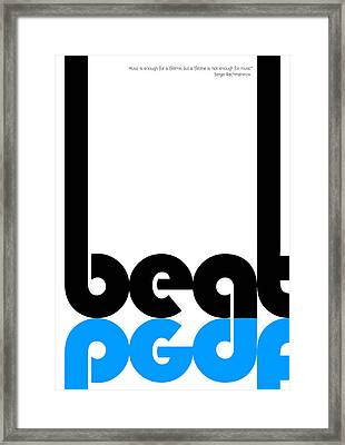 Beat Poster Framed Print by Naxart Studio