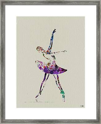 Beautiful Ballerina Framed Print by Naxart Studio
