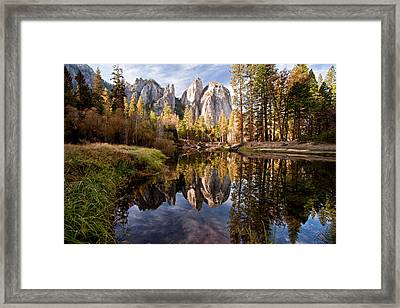 Beautiful Cathedral Rocks Framed Print by photos by Crow Carol Rukliss, Photographer