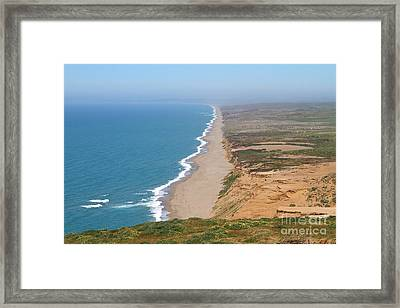 Beautiful Coastline Of Point Reyes California . 7d15965 Framed Print by Wingsdomain Art and Photography