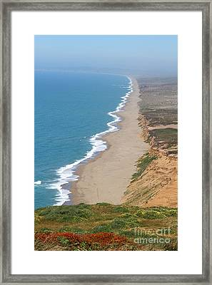 Beautiful Coastline Of Point Reyes California . 7d15968 Framed Print by Wingsdomain Art and Photography