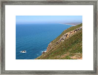 Beautiful Coastline Of Point Reyes California . 7d16017 Framed Print by Wingsdomain Art and Photography