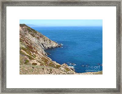 Beautiful Coastline Of Point Reyes California . 7d16036 Framed Print by Wingsdomain Art and Photography