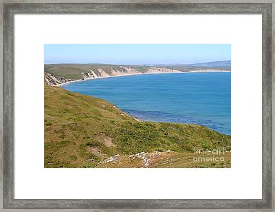 Beautiful Coastline Of Point Reyes California . 7d16050 Framed Print by Wingsdomain Art and Photography