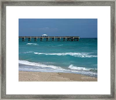 Beautiful Day At The Beach Framed Print by Sabrina L Ryan