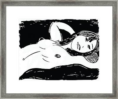Beautiful Nude Girl Framed Print by Artistic Photos