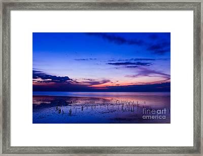 Beautiful Sea In Twilight Framed Print by Mongkol Chakritthakool