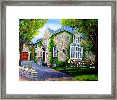 Beautiful Westmount Home Framed Print by Carole Spandau