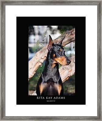 Beauty Framed Print by Rita Kay Adams