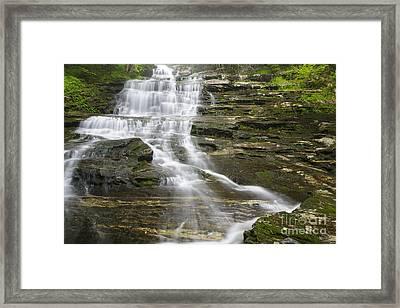 Beaver Brook Cascades - Kinsman Notch White Mountains Nh Framed Print by Erin Paul Donovan