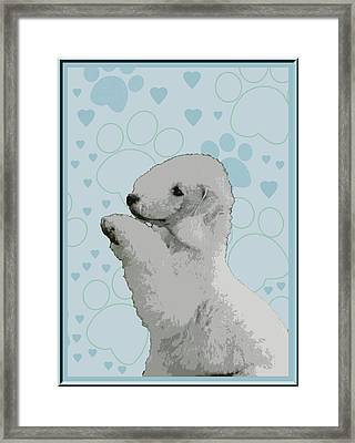 Bedlington Terrier Framed Print by One Rude Dawg Orcutt