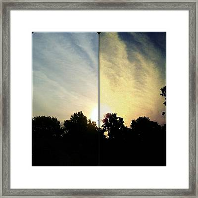 #before & #after #sunrise #sky #clouds Framed Print by Kel Hill
