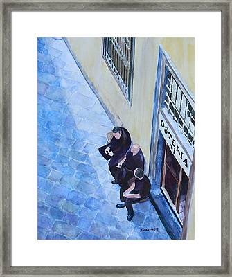 Before The Dinner Rush Framed Print by Jenny Armitage