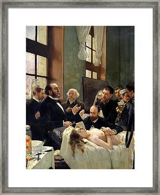 Before The Operation Framed Print by Henri Gervex